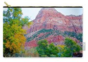 View From South Campground In Zion Np-ut Carry-all Pouch