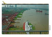 View Of A Ship On Its Side From A Bridge Near Bangkok-thailand Carry-all Pouch
