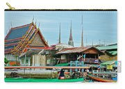 View Of A Temple From Waterway Of Bangkok-thailand Carry-all Pouch