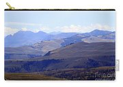 View Of Absaroka Mountains From Mount Washburn In Yellowstone National Park Carry-all Pouch