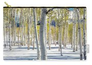View Of Aspens In Fresh Winter Snow Carry-all Pouch