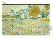 View Of Asylum And Saint-remy Chapel Carry-all Pouch by Vincent van Gogh