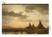 View Of Chimney Rock Ohalila .sioux Village In The Foreground Carry-all Pouch