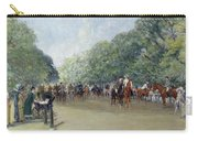 View Of Hyde Park With Figures On Rotten Row  Carry-all Pouch by Albert Jnr Ludovici