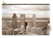 View Of Montreal In Sepia Carry-all Pouch