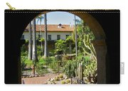 View Of Santa Barbara Mission Courtyard Carry-all Pouch