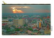 View Of Sun Setting Over Bangkok Buildings From Grand China Princess Hotel In Bangkok-thailand Carry-all Pouch