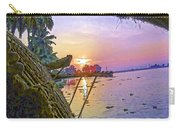 View Of Sunrise From A Houseboat Carry-all Pouch