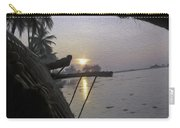 View Of Sunrise From The Window Of A Houseboat Carry-all Pouch