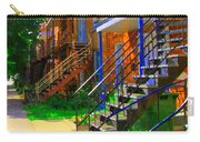 View Of Verdun Steps Stairs Staircases Winding Through Summer  Montrealstreet Scenes Carole Spandau Carry-all Pouch