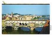 View On Ponte Vecchio From Uffizi Gallery Carry-all Pouch