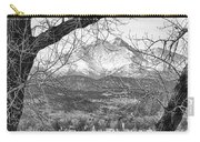 View Through The Trees To Longs Peak Bw Carry-all Pouch