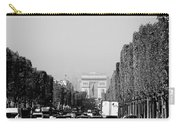 View Up The Champs Elysees Towards The Arc De Triomphe In Paris France  Carry-all Pouch