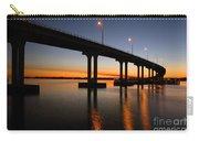 Vilano Bridge At Dusk St Augustine Florida Carry-all Pouch