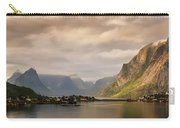 Village And Fjord Among Mountains Carry-all Pouch