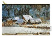 Village In Winter Carry-all Pouch