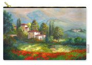 Village With Poppy Fields  Carry-all Pouch