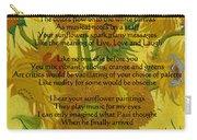 Vincent's Sunflower Song Carry-all Pouch
