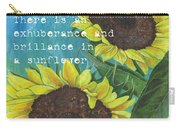 Vince's Sunflowers 1 Carry-all Pouch by Debbie DeWitt