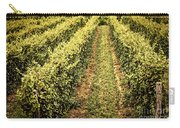 Vines Growing In Vineyard Carry-all Pouch