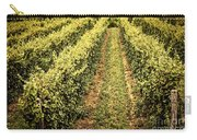 Vines Growing In Vineyard Carry-all Pouch by Elena Elisseeva