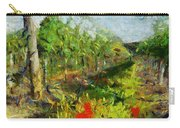 Vineyard And Poppies Carry-all Pouch