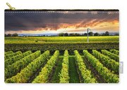 Vineyard At Sunset Carry-all Pouch