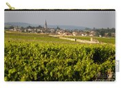 Vineyard In Front Of The Village Of Meursault. Burgundy Wine Road. Cote D'or.burgundy. France. Europ Carry-all Pouch