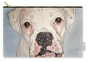Vinnie The White Boxer Carry-all Pouch