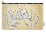 Vintage 1869 Velocipede Bicycle Patent Artwork Carry-all Pouch