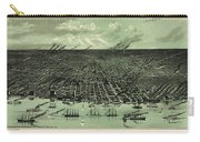 Vintage 1889 Detroit Michigan Map Carry-all Pouch