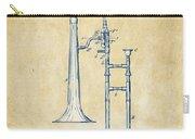 Vintage 1902 Slide Trombone Patent Artwork Carry-all Pouch