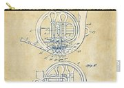 Vintage 1914 French Horn Patent Artwork Carry-all Pouch