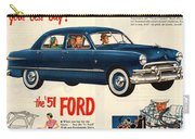 Vintage 1951 Ford Car Advert Carry-all Pouch