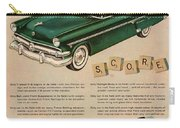 Vintage 1954 Ford Classic Car Advert Carry-all Pouch