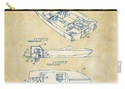 Vintage 1972 Chris Craft Boat Patent Artwork Carry-all Pouch