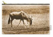 Vintage African Safari Wildbeest Carry-all Pouch