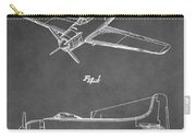 Vintage Airplane Patent Carry-all Pouch