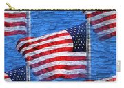 Vintage Amercian Flag Abstract Carry-all Pouch