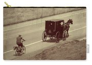 Vintage Amish Buggy And Bicycle Carry-all Pouch