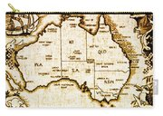Vintage Australia Map Carry-all Pouch