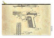 Vintage Automatic Pistol Patent Carry-all Pouch