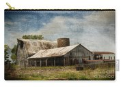 Barn -vintage Barn With Brick Silo - Luther Fine Art Carry-all Pouch