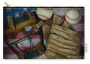 Vintage Baseball American Folk Art Carry-all Pouch