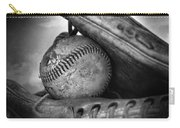 Vintage Baseball And Glove Carry-all Pouch