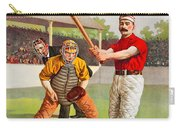 Vintage Baseball Print Carry-all Pouch