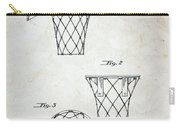 Vintage Basketball Hoop Patent Carry-all Pouch