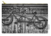 Vintage Bicycle Built For Two In Black And White Carry-all Pouch