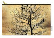 Vintage Blackbirds On A Winter Tree Carry-all Pouch