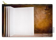 Vintage Blank Notepad Carry-all Pouch